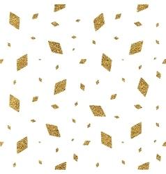 Geometric grunge gold seamless pattern of rhomb vector image