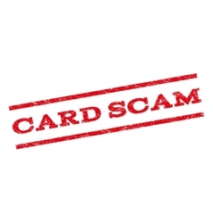 Card scam watermark stamp vector