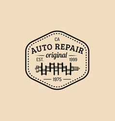 car repair logo with crankshaft vector image