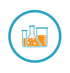 laboratory and medical services icon flat design vector image