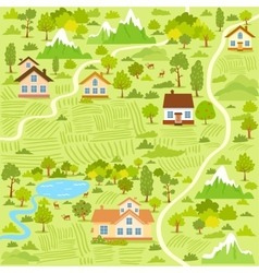 Village map vector