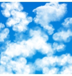 Sky clouds seamless pattern vector image