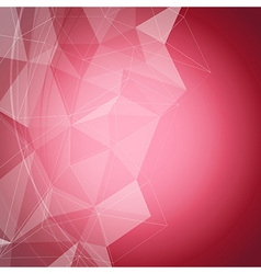 Red shiny crystal structure background vector