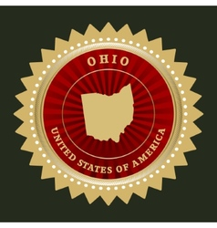 Star label Ohio vector image
