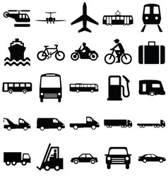 Transport Related Graphics vector image
