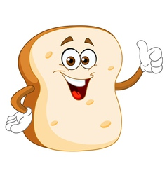 bread slice cartoon vector image