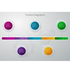 Timeline infographics glass vector