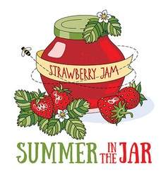 Summer in the jar vector