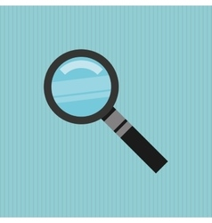 Magnifying glass design vector