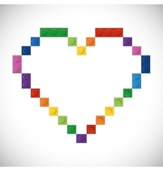 Lego icon Abstract heart figure graphic vector image