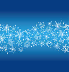 a seamless winter background with snowflakes vector image vector image