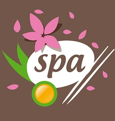 Abstract logo accessories for spa salon vector