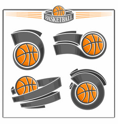 basketball balls vector image