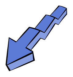 Broken down arrow icon icon cartoon vector