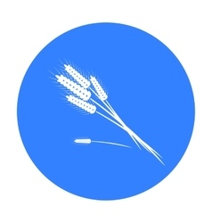 Bundle of wheat icon in black style isolated on vector