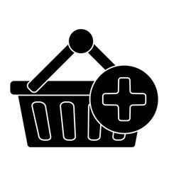 cart shopping plus icon vector image