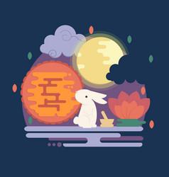 Chinese mid autumn festival vector