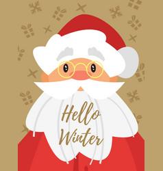 christmas new year greeting card vector image vector image