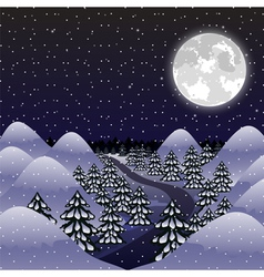 Christmas night background vector