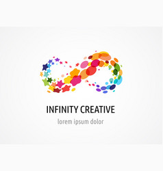 creative icon of infinity endless symbol logo vector image