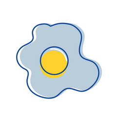Delicious fried egg to eat in the breakfast vector