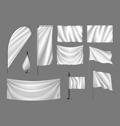 Flags mockup vector