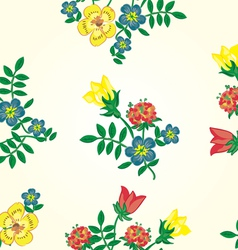 Floral seamless pattern Texture with flowe vector image