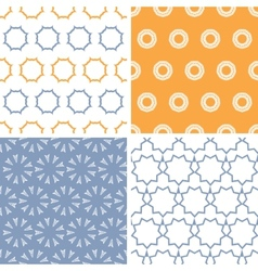 Four abstract arrows and circles motives seamless vector image vector image
