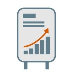 Growing chart graph icon business arrow vector