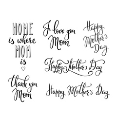 Happy Mothers day typography vector image vector image