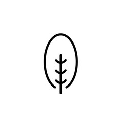 isolated black and white color trees vector image