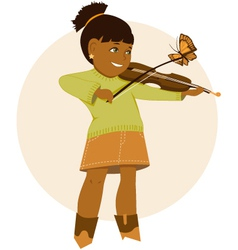 Little violinist vector image vector image