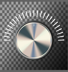 Music volume knob vector