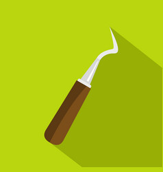 probe dental tool icon flat style vector image