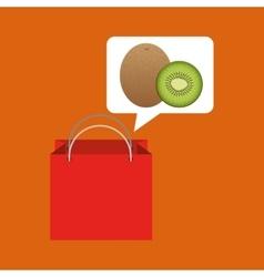 Red package juicy kiwi fruit vector