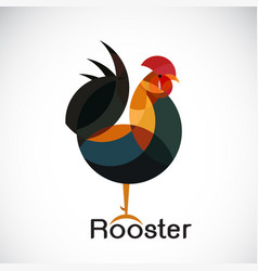 rooster design on white background cock animals vector image vector image