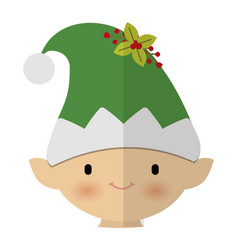 Santa helper icon vector