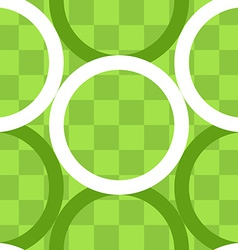 Seamless pattern of circles over checker board vector