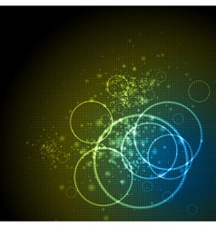 shiny tech background vector image vector image