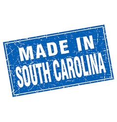 South carolina blue square grunge made in stamp vector
