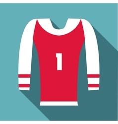 Sport uniform icon flat style vector