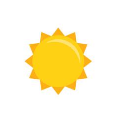sun icon flat vector image vector image