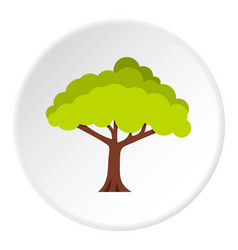 Tree icon circle vector