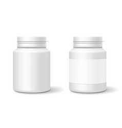 White medicine plastic bottle for tablets pills vector