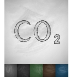 Carbon dioxide icon vector