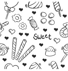 Collection stock of candy sweet doodles vector