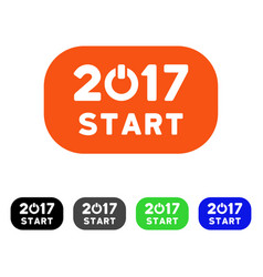 2017 start button flat icon vector image