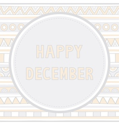 Happy december background1 vector