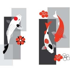 Koi carps vector