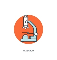 Microscope medical icon vector